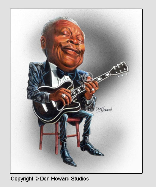 Blues Singer BB King and Lucike