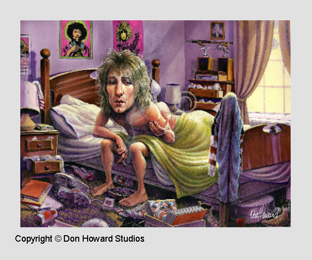 Don Howard illustrates Rod Stewart's hit song Wake Up Maggie