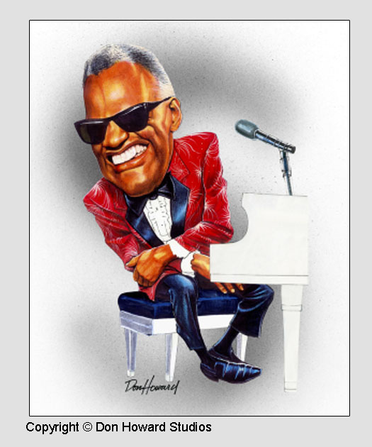 Blues Singer Ray Charles